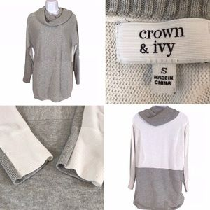 Crown & Ivy Cowl Neck Sweater Size Small